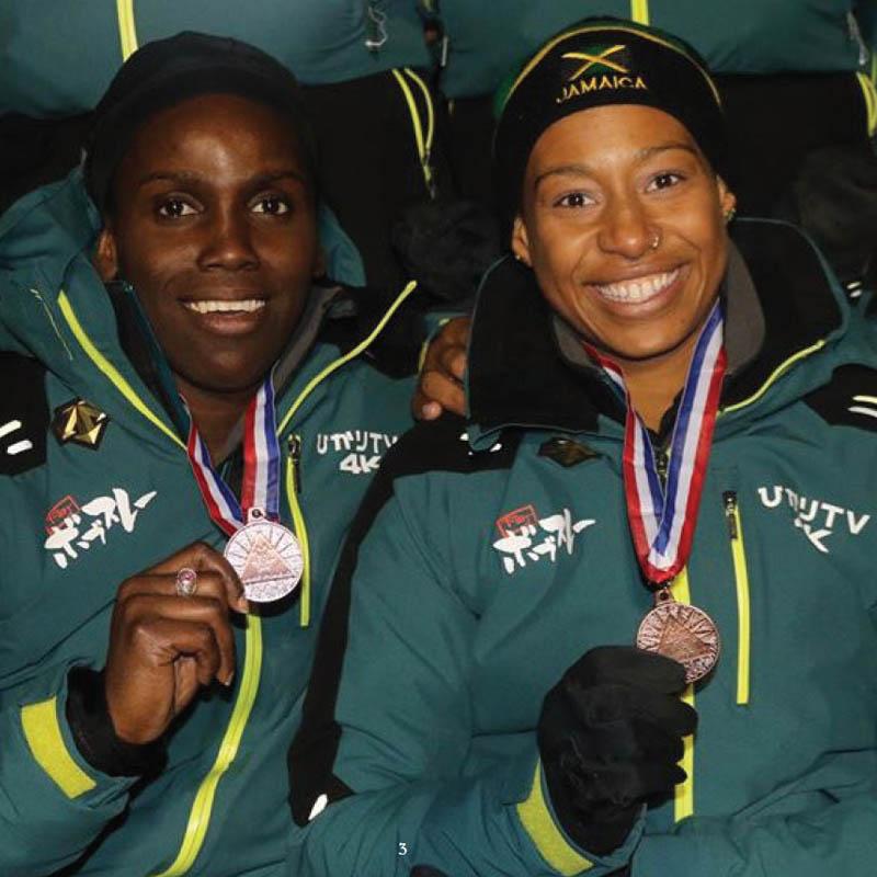Jamaican bobsleigh team medal win
